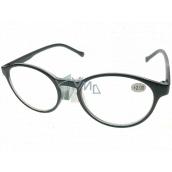 Berkeley Čtecí dioptrické brýle +2,0 plast černé, kulaté skla 1 kus MC2182