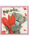 Me To You Blahopřání do obálky 3D Moje srdce...Medvídek se srdcem 15 x 15 cm