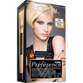 Loreal Paris Préférence Féria barva na vlasy P01 velmi světlá blond popelavá