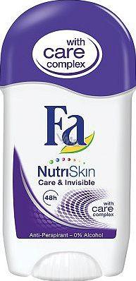 Fa NutriSkin Care & Invisible antiperspirant deodorant stick pro ženy 50 ml