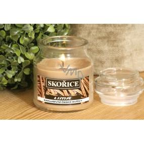 Lima Aroma Dreams Skořice aromatická svíčka sklenička s víčkem 120 g