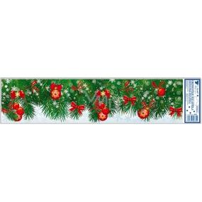 Okenní fólie bez lepidla ozdobené větvičky červené 64 x 15 cm