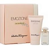 Salvatore Ferragamo Emozione parfémovaná voda 5 ml + parfémové tělové mléko30 ml, dárková sada