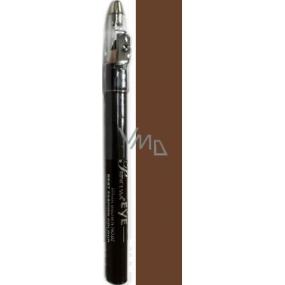 Princessa Fashion Best Colour voděodolná stínovací tužka na oči 03 Brown se třpytkami 3,5 g