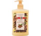 Bohemia Gifts & Cosmetics Kofein a Olivový olej relaxační krémové tekuté mýdlo 500 ml