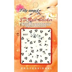 Lily Angel 3D nálepky na nehty 10120 B007 1 aršík