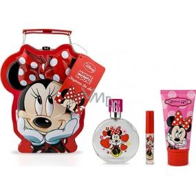 Disney Minnie Mousse toaletní voda pro holky 50 ml + sprchový gel 60 ml + lesk na rty 2,3 g, kosmetická sada