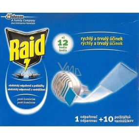 Raid elektrický odpařovač a polštářky proti komárům 1 odpařovač + 10 polštářků