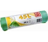 Alufix Sáčky do odpadkového koše zatahovací zelené 45 litrů, 60 x 60 cm, 20 kusů