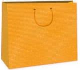 Ditipo Dárková papírová taška velká oranžová 38 x 10 x 29,2 cm DAA