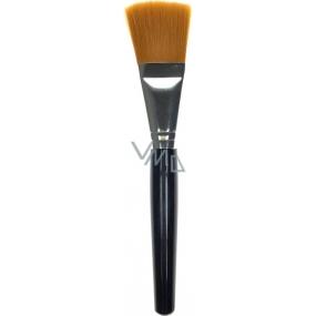 Kosmetický štětec na tvářenku rovný plochý oranžový vlas 18 cm 30450