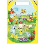 Velikonoční igelitová taška Kůzlátka a ovečky 32 x 20 x 4 cm