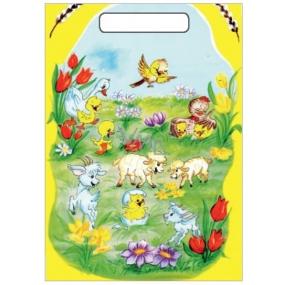 Anděl Velikonoční igelitová taška Kůzlátka a ovečky 32 x 20 x 4 cm