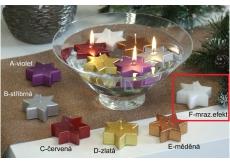 Lima Hvězda plovoucí svíčka mrazivý efekt 60 x 60 x 25 mm 1 kus