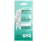 Garnier Moisture + Smoothness s kokosovou vodou a kyselinou hyaluronovou vyhlazující textilní maska na oči 15 minutová 6 g
