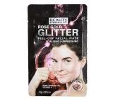 Beauty Formulas Rose Gold třpytivá slupovací pleťová maska 10 g