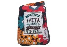 Albi Skládací taška na zip do kabelky se jménem Iveta 42 x 41 x 11 cm