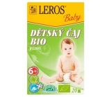 Leros Baby Bio bylinný čaj pro děti 20 x 2 g SLEVA zár.08/2019