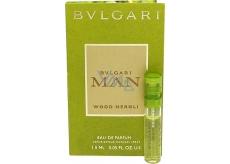 Bvlgari Man Wood Neroli parfémovaná voda 1,5 ml s rozprašovačem, Vialka