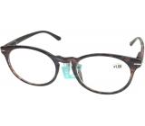 Berkeley Čtecí dioptrické brýle +1,0 plast fialovohnědé, kulaté skla 1 kus MC2171