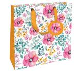 Nekupto Dárková papírová taška luxusní střední 23 x 23 x 10 cm 1841 LIM