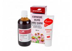 Aromatica Echinaceové bylinné kapky pro přirozenou obranyschopnost 100 ml + Kosmín na rty 25 ml, duopack