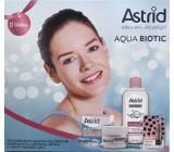 Astrid Aqua Biotic denní a noční krém pro suchou a citlivou pleť 50 ml + 3v1 micelární voda 400 ml + Trendy edice Perleťový lesk tónovací balzám na rty, 4,8 g, kosmetická sada