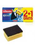 Vileda Glitzi Schwamm mit Nagelschutz + massiver Stahlwolle 2 +1