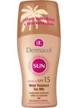 Dermacol Sun Milk SPF15 voděodolné mléko na opalování ve spreji 200 ml