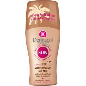 Dermacol Sun Milk SPF15 Voděodolné mléko na opalování 200 ml sprej