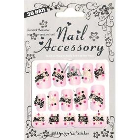 Nail Accessory 3D nálepky na nehty č. 6 1 aršík