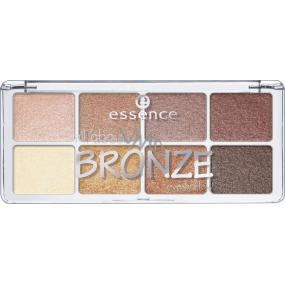 Essence All About Bronze Eyeshadow paletka očních stínů 01 Bronze 9,5 g