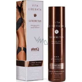 Vita Liberata pHenomenal Samoopalovací tónovací mléko na tvář a tělo pro 2-3 týdenní opálení Dark - tmavý 125 ml