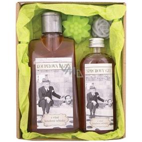 Bohemia Gifts & Cosmetics Gentleman Spa koupelová lázeň 200 ml + sprchový gel 100 ml + 2x ručně vyráběné mýdlo