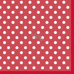 Maki Papírové dezertní ubrousky červené 3 vrstvé 25 x 25 cm 20 kusů