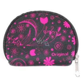 Albi Original Neoprén Mini peněženka Růžové květy, 7 x 8 cm
