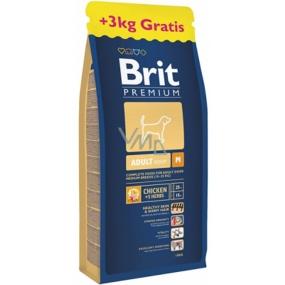 Brit Premium Adult M pro dospělé psy středních plemen 10-25 kg 15+3 kg