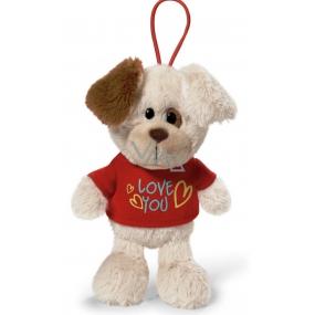 Nici Love You Pes v tričku se závěsem 15 cm