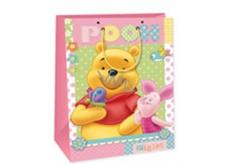 Ditipo Disney Dárková papírová taška dětská XL Medvídek Pú, Pooh Piglet 33 x 10,2 x 45,7 cm