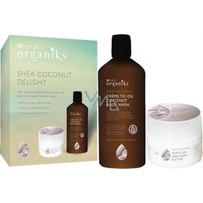 Spa Magik Organická řada Kokos sprchový krém 300 ml + tělové máslo 250 ml, hydratační terapie kosmetická sada