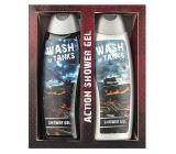 Bohemia Gifts & Cosmetics Wash of Tanks 2 x krémový sprchový gel pro děti s obrázky tanků na etiketách 300 ml, kosmetická sada