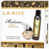 La Rive Madame in Love parfémovaná voda pro ženy 90 ml + deodorant sprej 150 ml, dárková sada