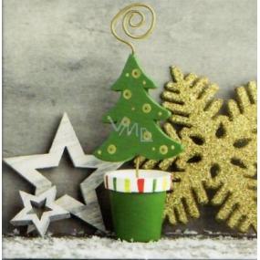 Nekupto Vánoční kartičky na dárky zelený stromek 6,5 x 6,5 cm 6 kusů