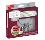 Yankee Candle Black Cherry - Zralé třešně vůně do auta kovová stříbrná visačka Charming Scents set Square 13 x 15 cm, 90 g