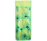 Kapsář do koupelny na zavěšení zelený 45 x 18 cm 3 kapsy 710