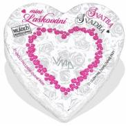 Albi Mini Laškování - Svatba malé srdce plné inspirací do partnerského života, obsahuje 21 svitků s inspirací, pro 2 hráče, věk od 18+