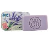 Bohemia Gifts Levandule ručně vyráběné toaletní mýdlo s glycerinem v plechové krabičce 80 g