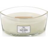 WoodWick Fig Leaf & Tuberose - Fíkový list a tuberóza vonná svíčka s dřevěným širokým knotem a víčkem loď 453 g