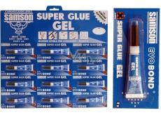Samson Super Glue gelové sekundové lepidlo modré 12 x 3 g