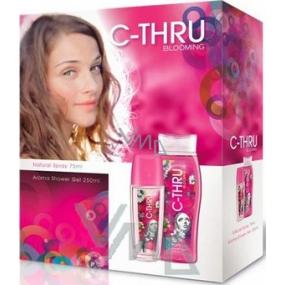 C-Thru Blooming parfémovaný deodorant sklo pro ženy 75 ml + sprchový gel 250 ml, kosmetická sada